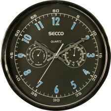Secco Falióra, 30 cm, barométerrel, hőmérővel SECCO, króm színű tapéta, díszléc és más dekoráció