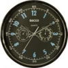 Secco Falióra, 30 cm, páratartalom mérővel, hőmérővel SECCO, króm színű
