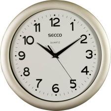 "Secco Falióra, 30 cm,  SECCO ""Sweep Second"",ezüst színű keret falióra"
