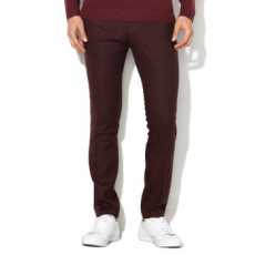 Selected Homme , Phantom Slim Fit gyapjú tartalmú alkalmi nadrág, Bordó, W34-L32 (16063792-BITTER-CHOCOLATE-W34-L32)