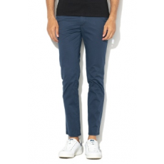 Selected Homme , Slim fit chino nadrág diszkrét mintával, Sötétkék, W36-L34 (16062974-DARK-DENIM-W36-L34)