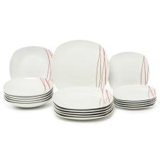 SENCILLA Domestic Sencilla étkészlet, 18 részes tányér és evőeszköz