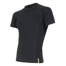 Sensor Merino DF r. ujjú L / fekete férfi póló