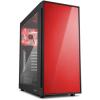 Sharkoon AM5 Window táp nélküli ATX számítógépház piros