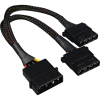 "Sharkoon Y tápkábel 4Pin 5.25 ""> 2x 4Pin 5,25"" Molex, Y kábel  (4044951018925)"