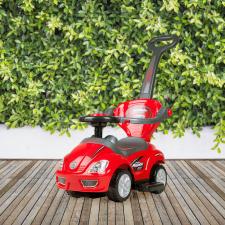 Shoppy Bayo Mega Car 3 az 1-ben tolókaros kisautó, piros autópálya és játékautó