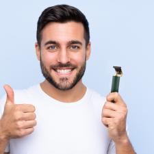 Shoppy VGR akkumulátoros haj és szakállvágó, trimmelő, zöld hajvágó