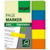 SIGEL 615 Jelölocímke, műanyag, 5x40 lap, 12x50 mm, vegyes szín