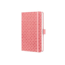 """SIGEL Jegyzetfüzet, exkluzív, 95x150 mm, vonalas, 174 oldal, keményfedeles,  """"Jolie"""", rozé pink füzet"""