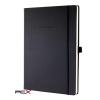 """SIGEL Jegyzetfüzet, exkluzív, A4, vonalas, 194 oldal, keményfedeles, SIGEL """"Conceptum"""", fekete"""