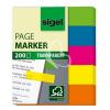 """SIGEL Jelölőcímke, műanyag, 5x40 lap, 12x50 mm, SIGEL """"615"""", vegyes szín"""