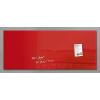 """SIGEL Mágneses üvegtábla, 130x55 cm,  """"Artverum® """", piros"""
