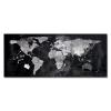 """SIGEL Mágneses üvegtábla, 130x55 cm,  """"Artverum® """", világtérkép"""
