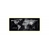 """SIGEL Mágneses üvegtábla, LED fénnyel, 130x55 cm,  """"Artverum® """",  világtérkép"""