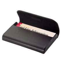 "SIGEL Névjegytartó tárca, bőr, 25 db-os,  ""Torino"", fekete névjegytartó"