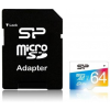 Silicon Power MICRO SDXC Silicon Power 64GB UHS-I Elite 1 Adapter (50MB/s | 15MB/s) CL10 (SP064GBSTXBU1V20SP)