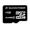 Silicon Power microSDHC 4GB Class 4