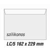 SilverBall Boríték LC5 szilikon BÉLÉSNYOMATLAN 162x229mm SilverBall 500db/dob