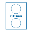SilverBall Etikett 117mm CD-re SilverBall <100lap/dob>