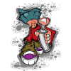 SilverBall Füzet (80-32) A4 32 lap SIMA Graffiti Boy SilverBall<20db/csom>