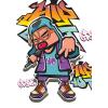 SilverBall Füzet (87-32) A4 32 lapKOCKÁS Graffiti Boy SilverBall <20db/cs