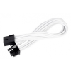 Silverstone 8-Pin PCIe - 6+2-Pin PCIe hosszabbító - 250mm fehér