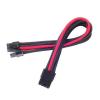 Silverstone 8-Pin PCIe - 6+2-Pin PCIe hosszabbító - 250mm fekete/piros