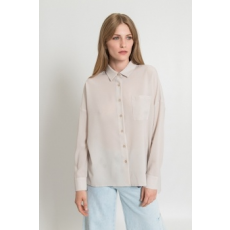 Silvian Heach Collection , Foltzsebes ing, törtfehér, S (PGP18330CA-OFF-WHITE-S)