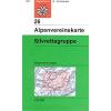 Silvrettagruppe turistatérkép - Alpenvereinskarte 26