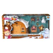 Simba Masha és a medve: téli medvelak játékszett játékfigura