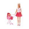 Simba Toys Steffi Love - Steffi baba ikrekkel és rózsaszín babakocsival (105738060)