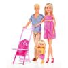 Simba Toys Steffi Love - Terhes Steffi és Kevin baba kislányukkal (105733200)
