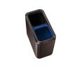SimpleHuman Nyitott tetejű szelektív szemetes, rozsdamentes acél, 20 l, SIMPLEHUMAN, sötét bronz