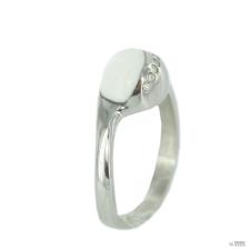 Skagen Női gyűrű ezüst fehérZyrkonia JRSW021 S6 Gr. 52 (16,5) gyűrű