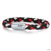 Skipper & Son Segeltau karkötő nemesacél ezüst/piros gemintat Hossz: 24 cm