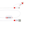 "Skross USB kábel, micro + lightning, 2in1, BUZZ riasztó, SKROSS ""BUZZ2IN1CABEL"""