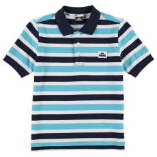 Slazenger gyerek póló - Slazenger Plain Polo Shirt Junior Navy