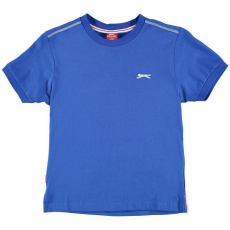 Slazenger Slazenger gyerek póló - Slazenger Plain T Shirt Junior Boys Royal