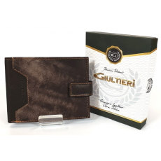 SLM GIULTIERI márványos barna-márványos nyelves bőr pénztárca SCJ37