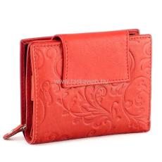 SLM nyomott mintás, piros, széles nyelves női bőr pénztárca NY03