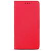 Smart magnet Huawei Y5 (2018) oldalra nyíló mágneses könyv tok szilikon belsővel piros