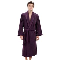 Soft Cotton LORD férfi fürdőköpeny M Sötét lila / Dark purple