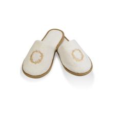 Soft Cotton SEHZADE férfi papucs 28 cm (40/42 szám) Vaj szín - arany hímzés / Ecru -gold embroidery