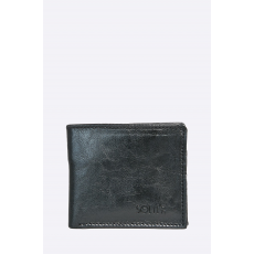 Solier - Bőr pénztárca - fekete