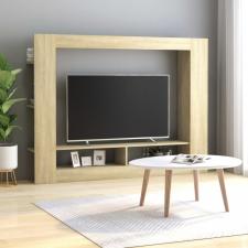 Sonoma-tölgy színű forgácslap TV-szekrény 152 x 22 x 113 cm bútor