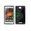 Sony-Ericsson Sony C2305 Xperia C fekete szilikon tok