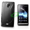 Sony-Ericsson Sony LT30 Xperia T fekete szilikon tok