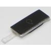Sony LT25 Xperia V headsetcsatlakozó takaró fehér (króm)*