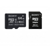 Sony MICRO SDHC CARD 64GB SONY CL10 + Adapter (SR64UYA)