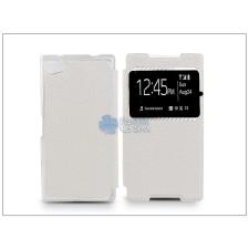 Sony Sony Xperia Z5 Compact (E5803) S-View Flexi oldalra nyíló flipes tok - fehér tok és táska